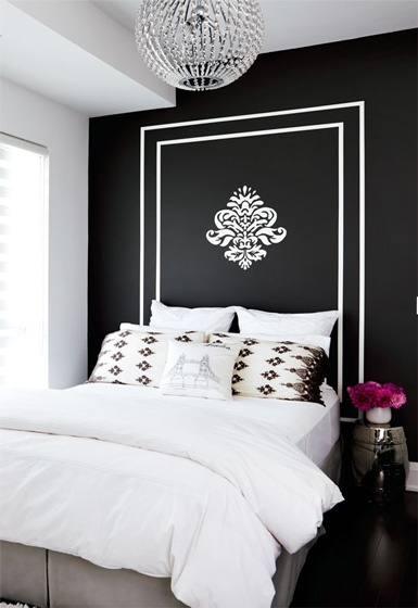 Color of the month paint it black marker girl for Black painted bedroom