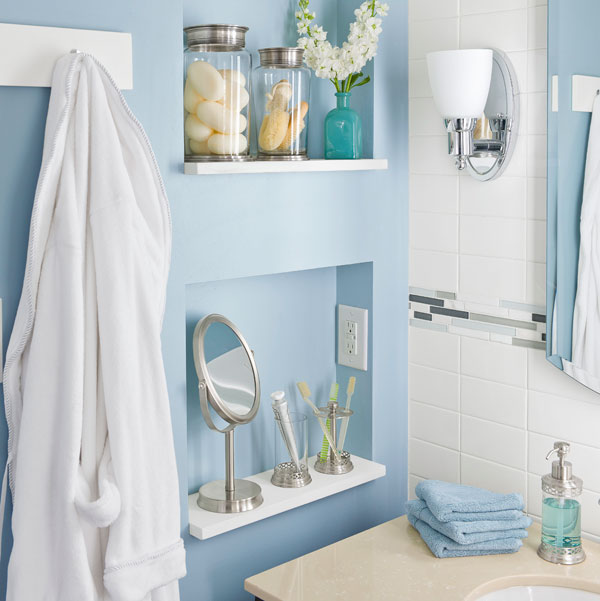 Storage solutions for a small bathroom for Compact bathroom solutions