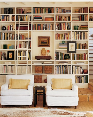 How to arrange books on bookshelves Built in shelves living room