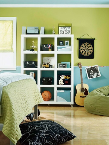 Comkids Room Colors For Boys : Fun Prep Boy look with green and navy stripes and accents..