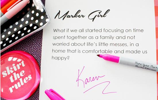 Karen Davis Marker Girl