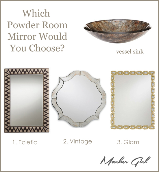 which mirror would you choose Powder Room