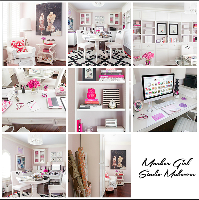 Studio Makeover Marker Girl By Karen Davis Interior Designer Houston TX. My  Final Installment Of My Office ...