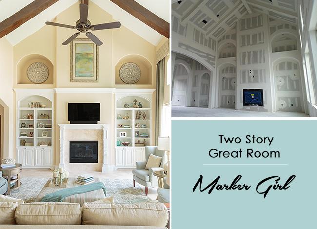 Two Story Family Room Marker Girl Makeover