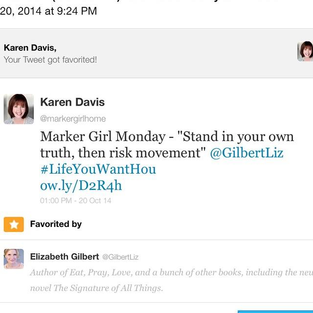 Elizabeth Gilbert tweet