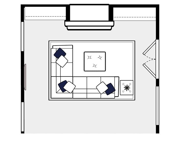 Houston Family Room – Design Day