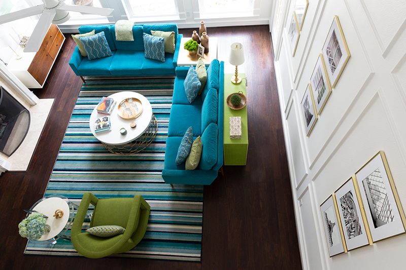 Modern Family Remodel – The Living Room and Powder Bathroom